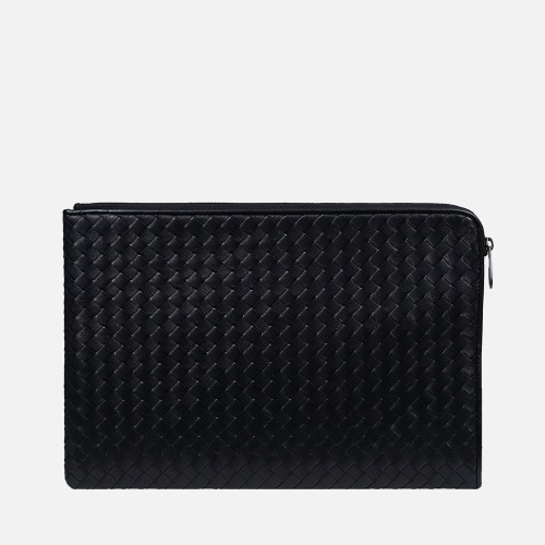 Net Clutch Bag (L) - BLACK