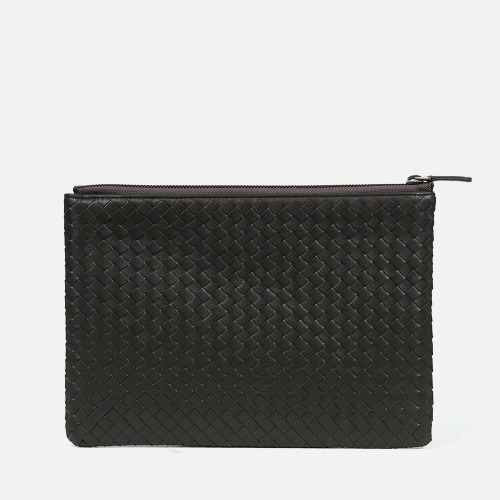 Net Clutch Bag (M) - KHAKI GRAY