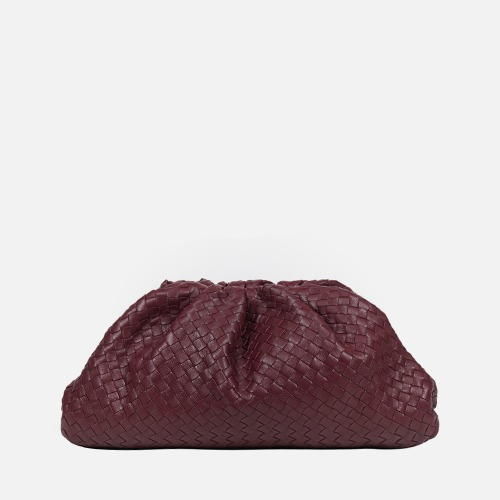 Wrinkle Clutch Bag - WINE