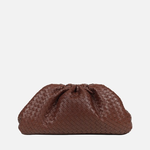 Wrinkle Clutch Bag - CAMEL