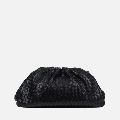 Wrinkle Clutch Bag - BLACK