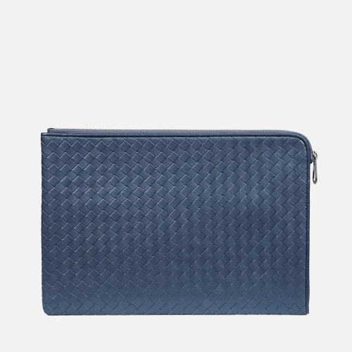 Net Clutch Bag (L) - STEEL BLUE