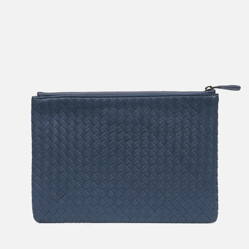 Net Clutch Bag (M) - STEEL BLUE