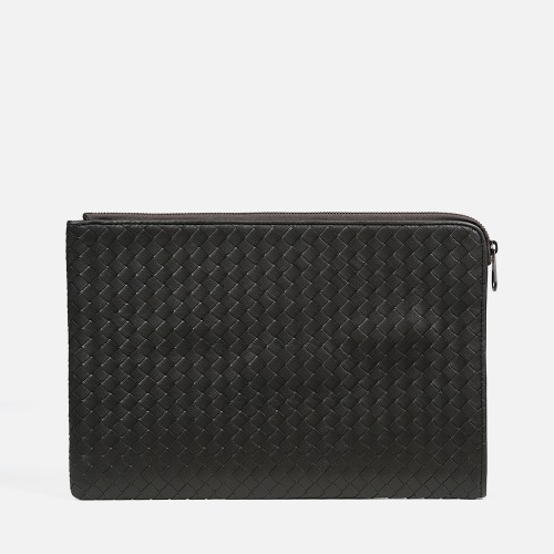 Net Clutch Bag (L) - KHAKI GRAY