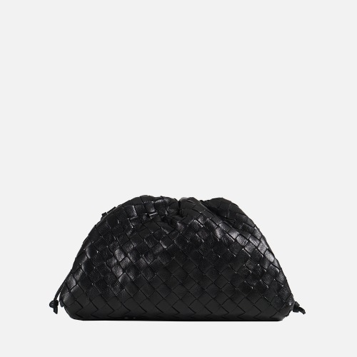 Wrinkle Cross Bag - BLACK