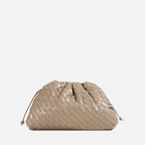 Wrinkle Cross Bag - LIGHT BEIGE