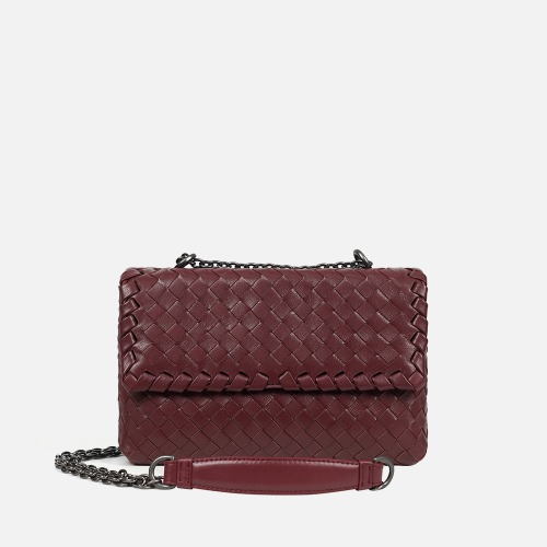 2 Chain Shoulder Bag (S) - WINE