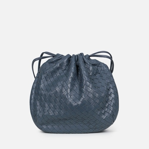 Net Bucket Bag - STEEL BLUE