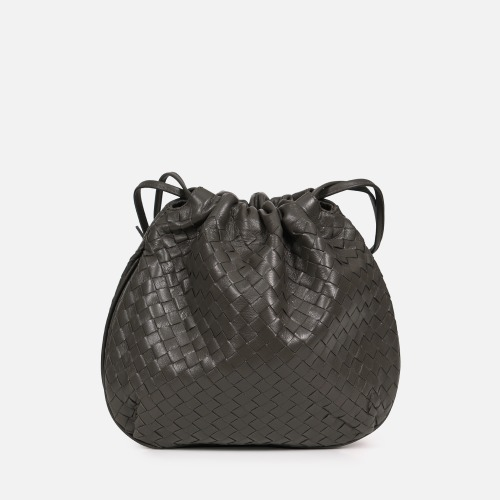 Net Bucket Bag - KHAKI GRAY